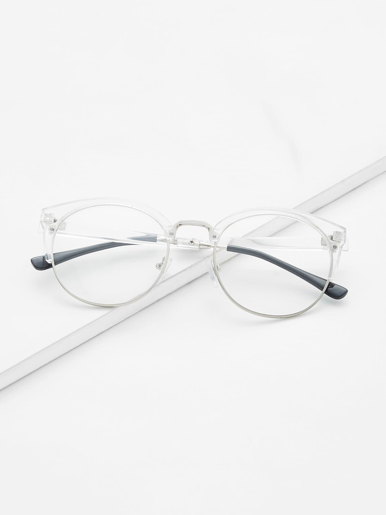 Clear Frame Glasses With Clear LensFor Women-romwe