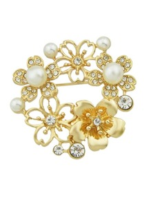 Hollow Pearl Brooch