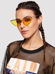 Metal Extreme Cat Eye Sunglasses