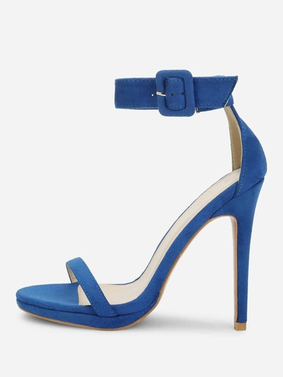 Ankle Strap Two Part Heels
