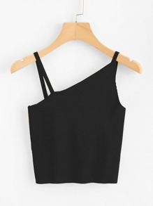 Asymmetrical Shoulder Cami Top