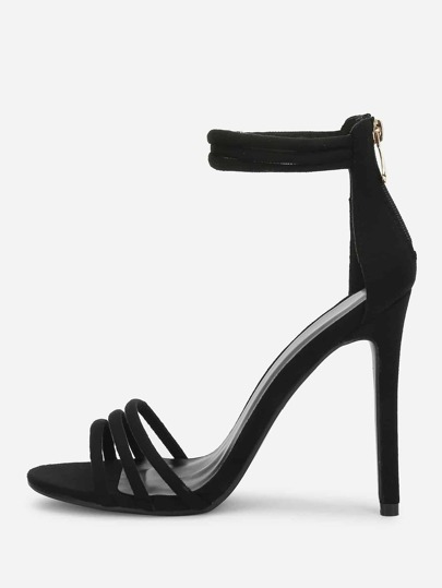 Two Part Ankle Strap Strappy Heels