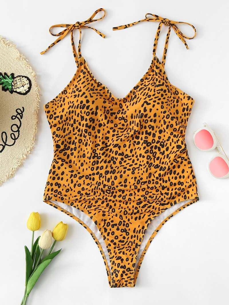 Leopardo Leopardo De Espalda Baja Bañador Bañador N0n8wXPkOZ