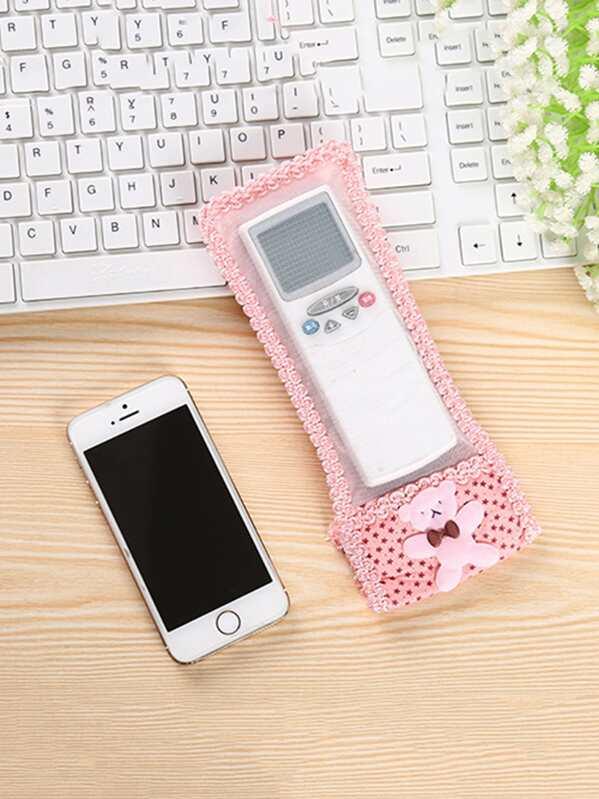 36e5db0be0 Lace Trim Mesh Remote Control Cover | SHEIN