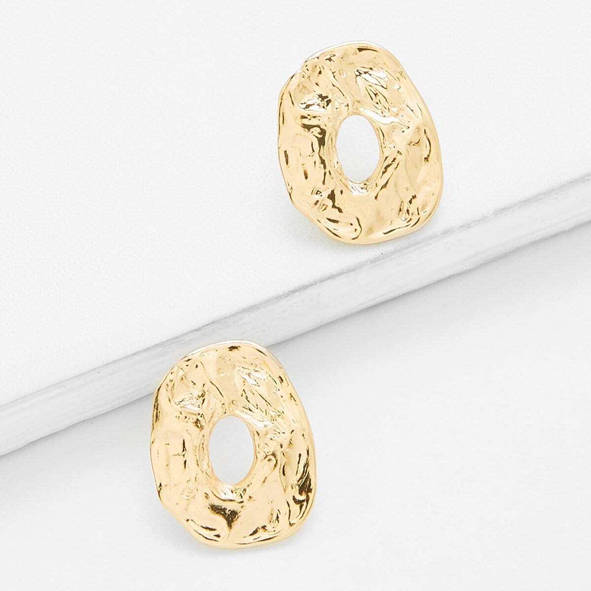 - Asymmetrical Hoop Earrings