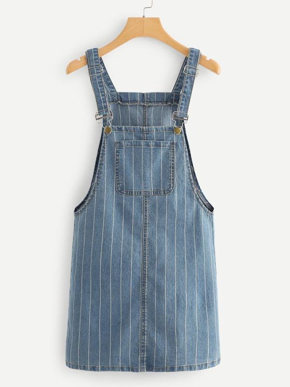 d5bcb1c1f1 Pinstripe Overall Denim Dress. AddThis Sharing Buttons
