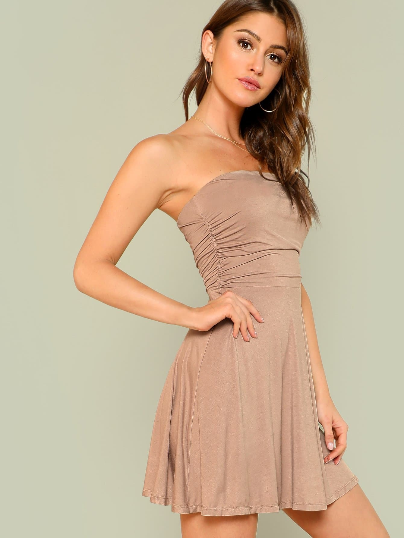 99734bd211be Ruched Fit And Flare Dress