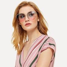 SHEIN | Ombre Lens Aviator Sunglasses | Goxip