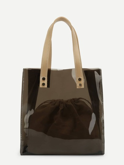 PVC Tote Bag With Inner Pouch