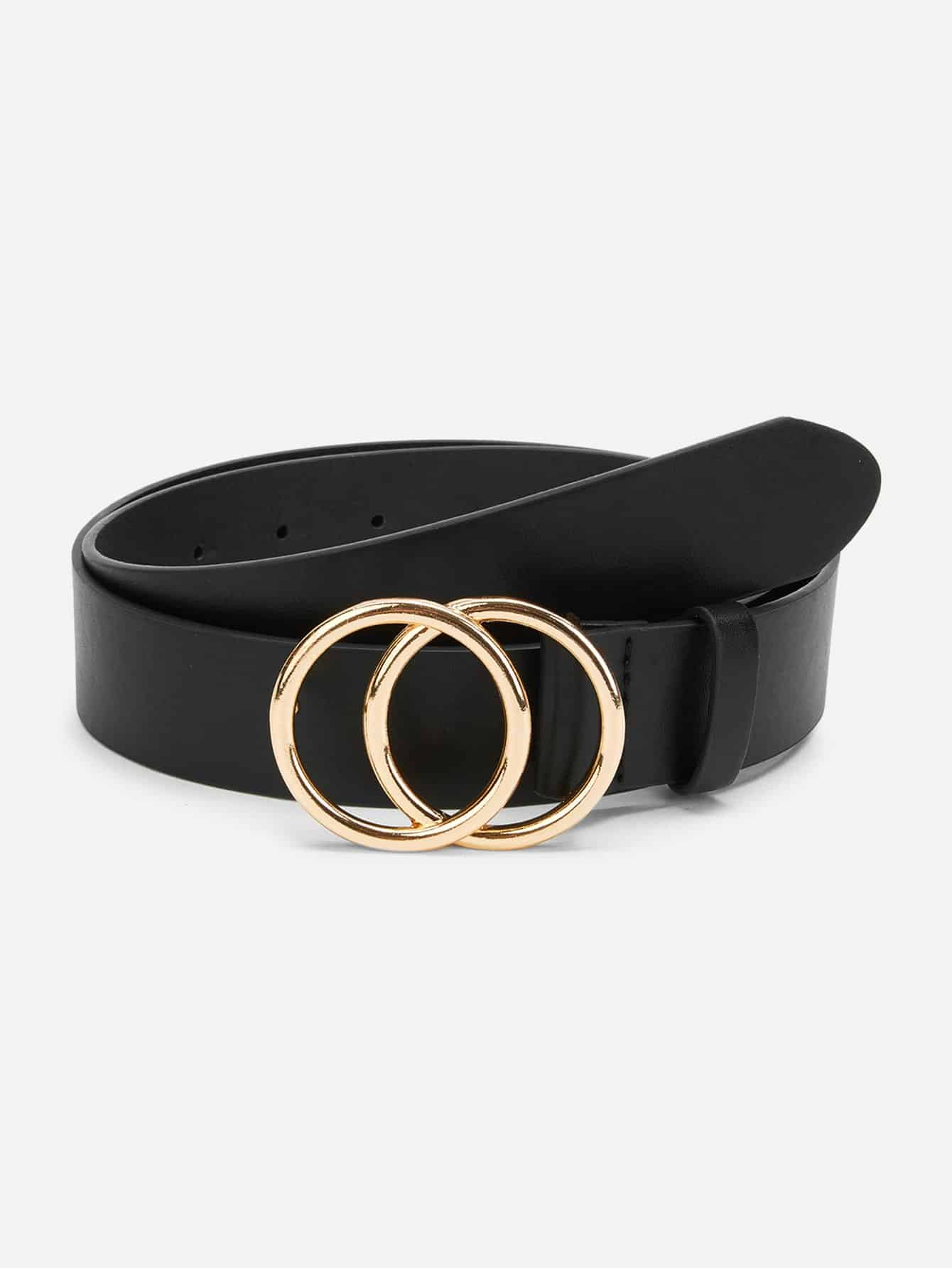 b0eeb713f1 Double Circle Buckle Belt