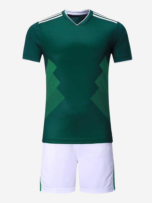 timeless design d3479 ff89c Men Mexico Football Host Team T-Shirt With Shorts