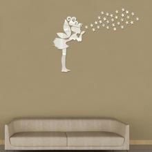 Girl & Star Mirror Wall Sticker 36pcs wallart18042380