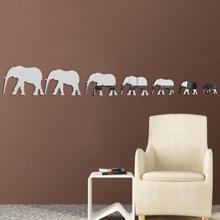 Elephant Mirror Wall Sticker 7pcs wallart18042383