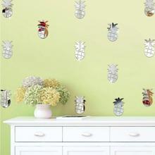 Pineapple Mirror Wall Sticker Set 24pcs wallart18042394