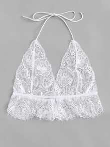 Plus Floral Lace Bralette