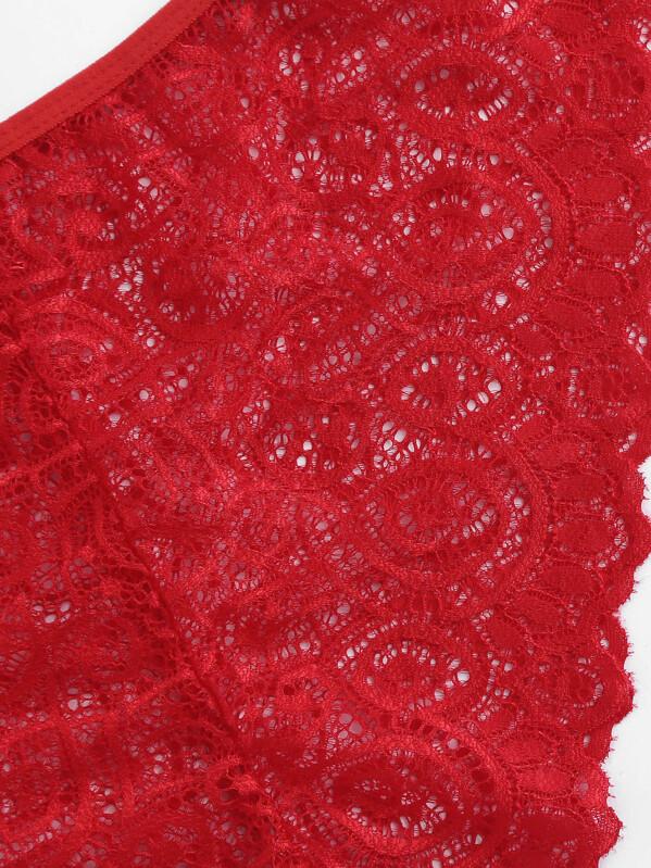 98ada1e0832e Ropa Interior Tallas Grandes Cut-out Liso Rojo Sexy