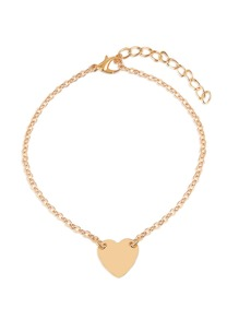 Heart Detail Chain Anklet