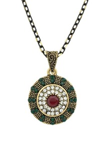 Red Retro Diamond Necklace