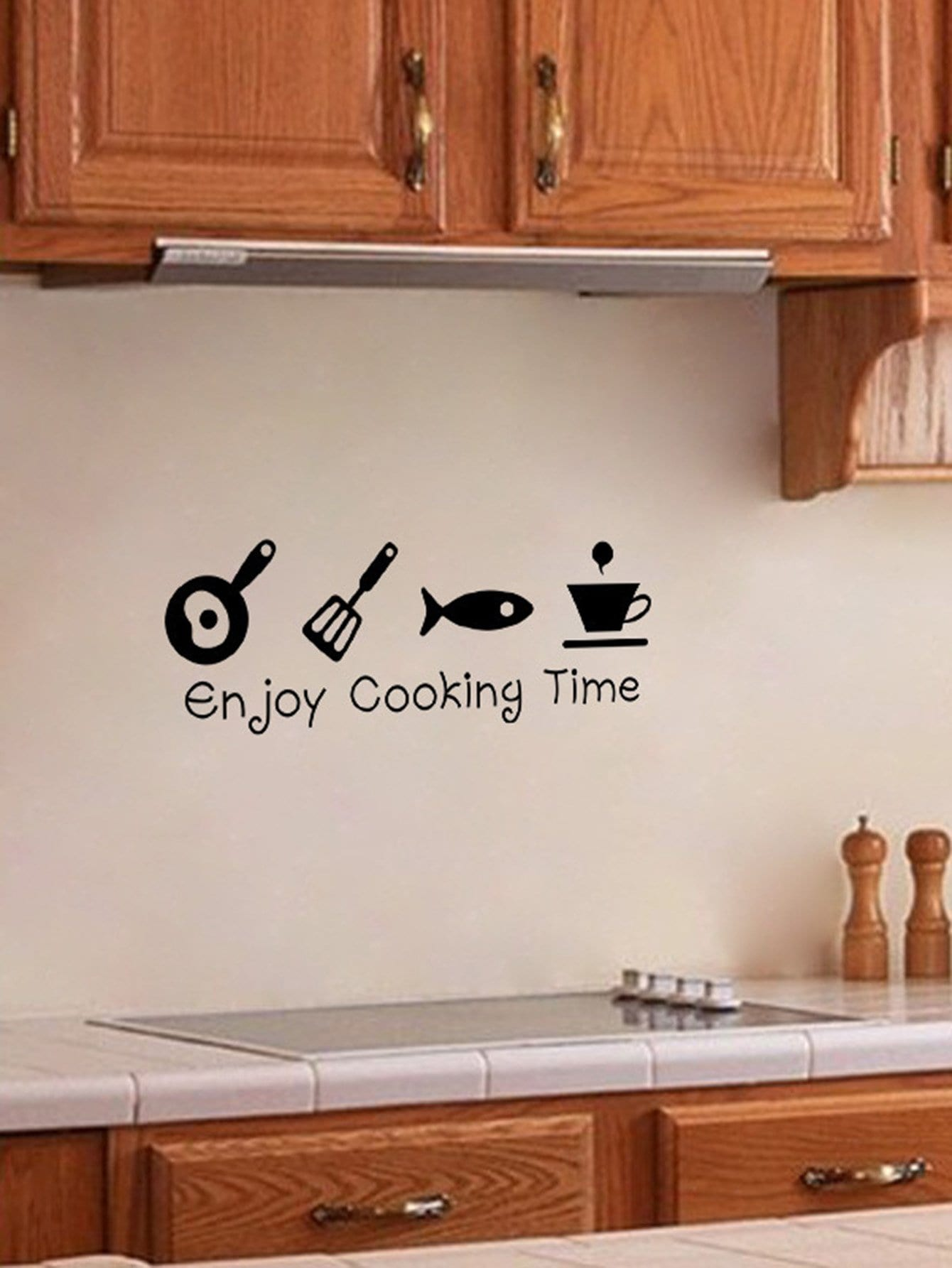 Pegatina de pared de cocina de dibujos animados spanish romwe - Pegatinas para cocinas ...