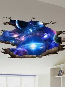 3D Galaxy Wall Sticker