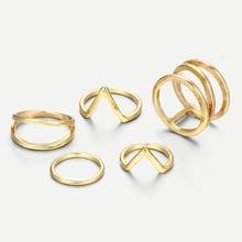 Multi Layered Rings Set 5pcs