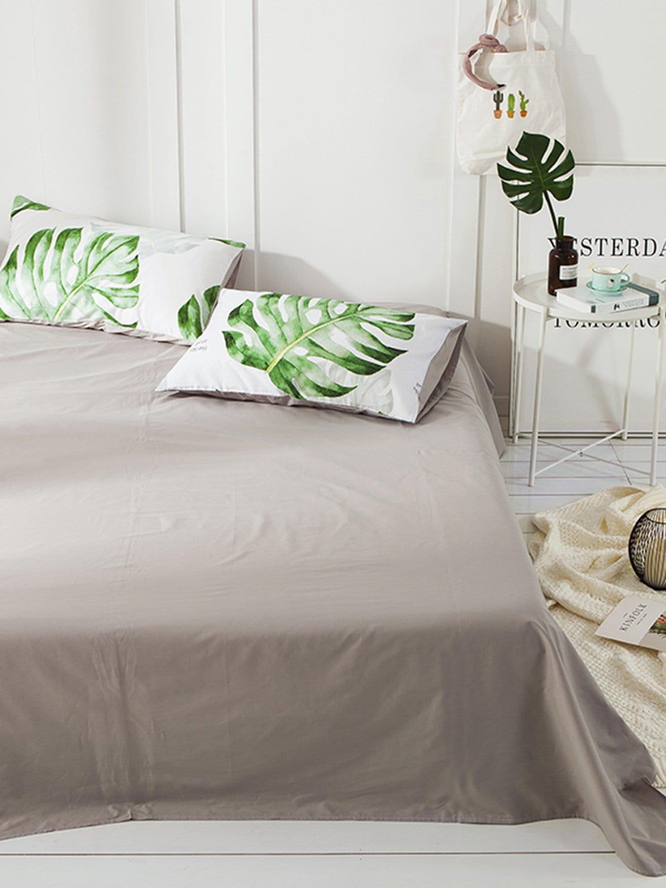 4 pi ces ensemble de housse de couette imprim tropical. Black Bedroom Furniture Sets. Home Design Ideas