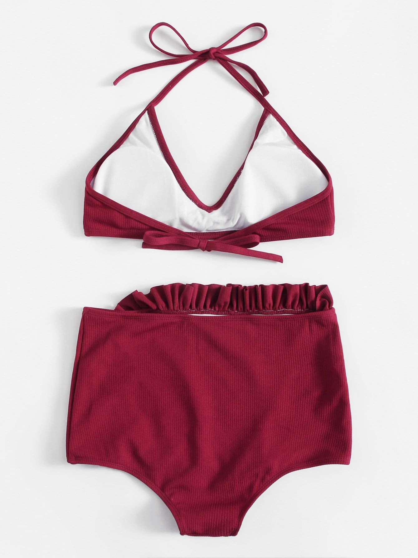 Frill High Waist Bikini SetFor Women-romwe 8ab37c871