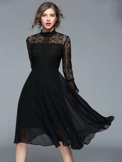 dcd83f0da فستان من الدانتيل الشيفون   شي إن