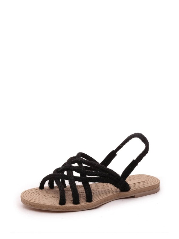 Fit Slingback Wide Fit Rope Sandals Wide 8P0mnyvNwO