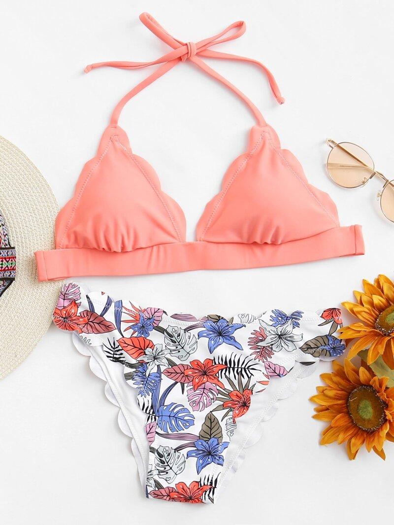 Talla Bikini Set De Concha Ribete Forma En Grande 1FcKJuT3l