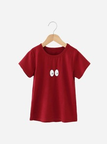 Toddler Boys Eye Print T-shirt