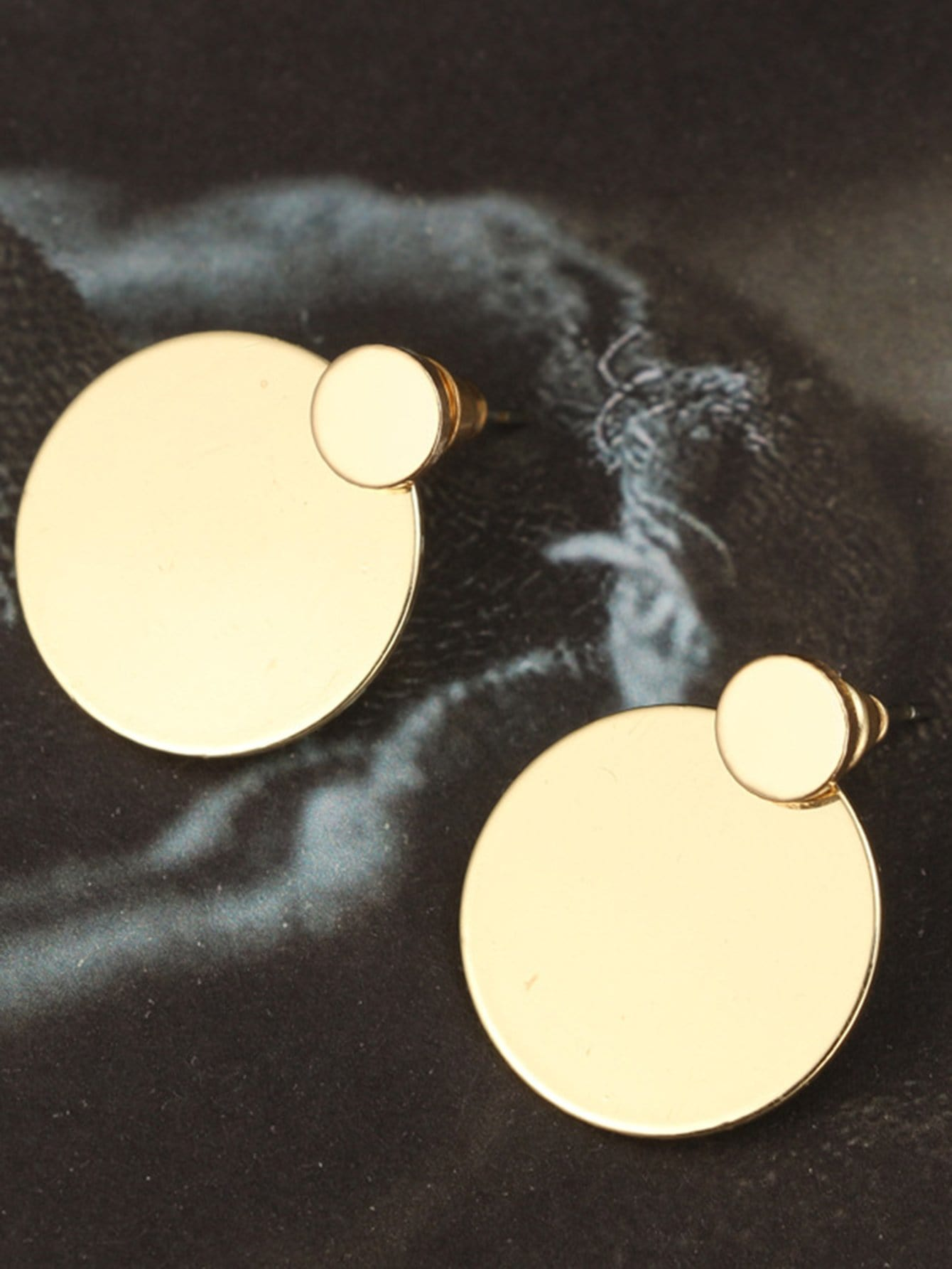 earrings from diamond flat image gold rose jewellery stud disc large