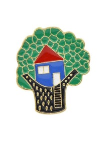 Dripping Oil Cartoon Brooch