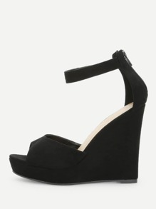 Two Part Wedge Sandals