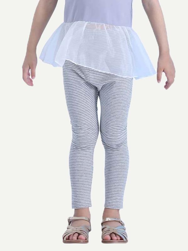 4610797bac94b Toddler Girls Striped Leggings | SHEIN