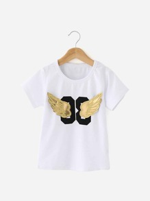 Boys Angel Wings Patches Tee