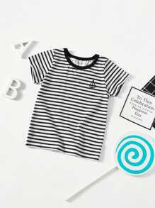 Toddler Boys Contrast Striped Tee