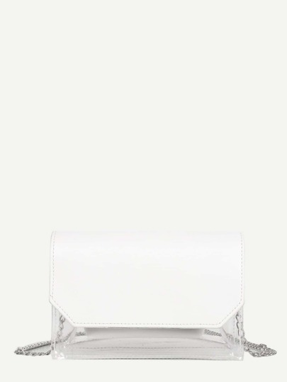 3b08705739 Clear PVC Flap Bag With Inner Pouch