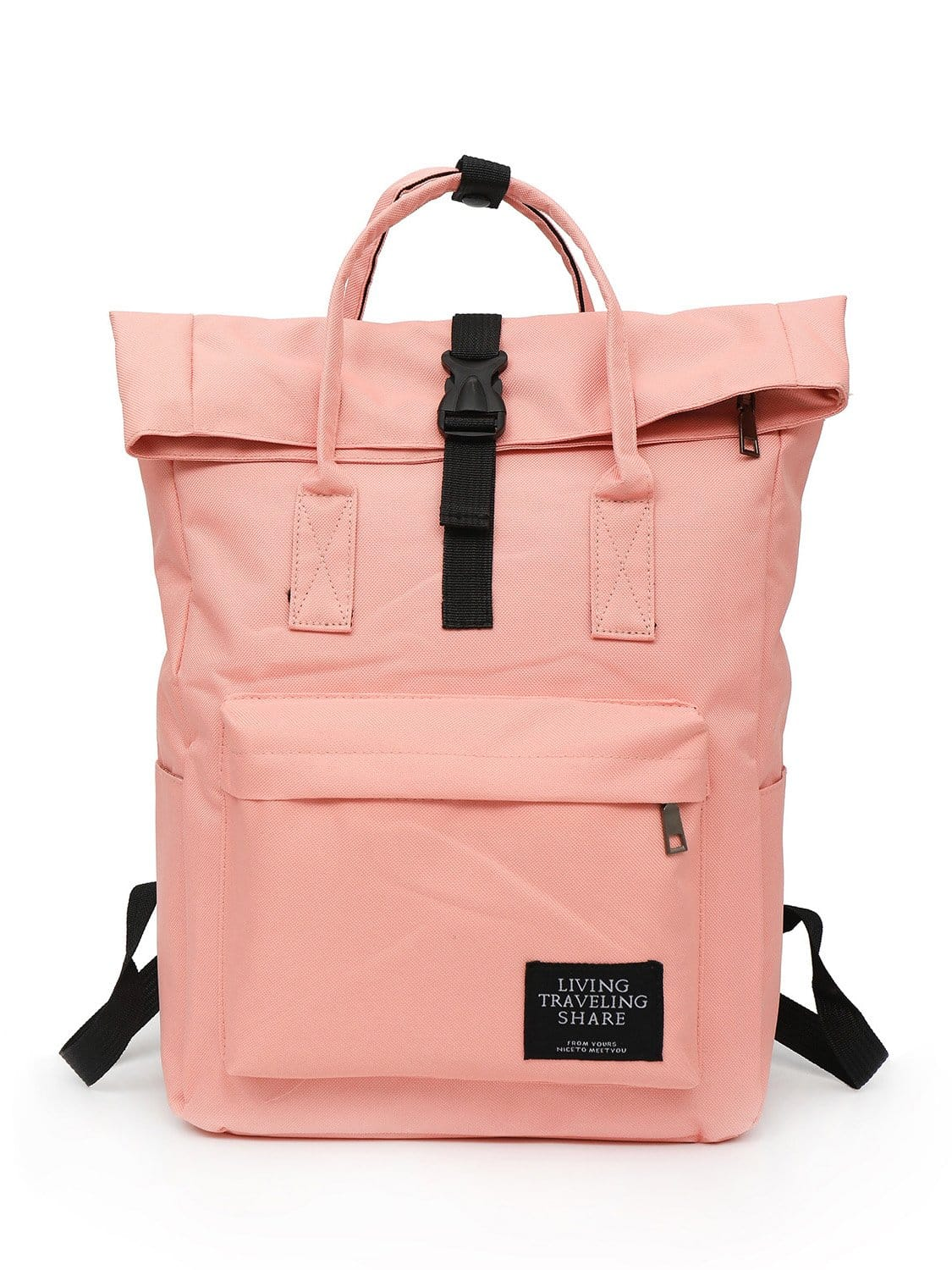 5bbe713c7b62 Roll Up Canvas Backpack EmmaCloth-Women Fast Fashion Online
