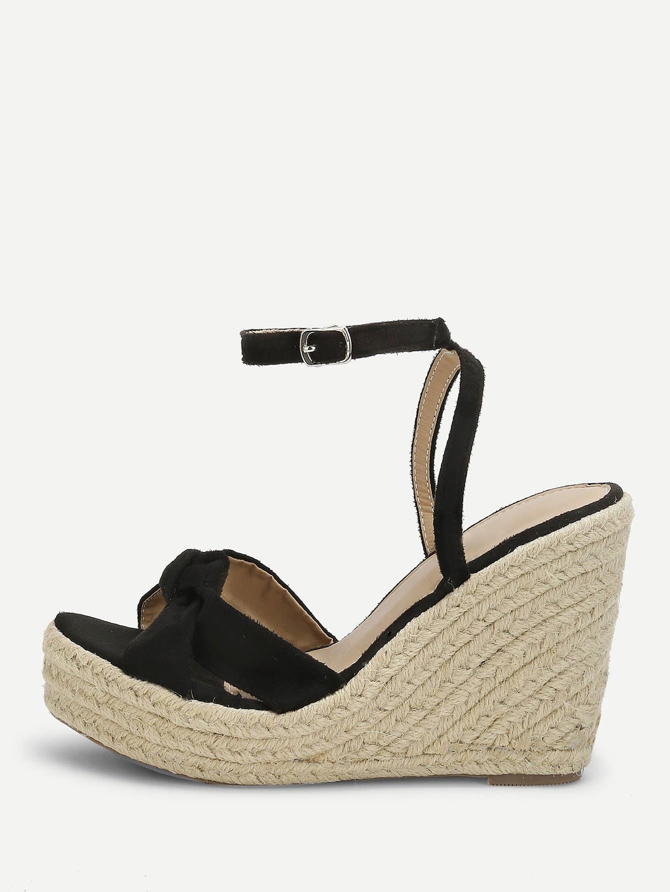 d1185abb2553 Knot Detail Espadrille Wedges EmmaCloth-Women Fast Fashion Online