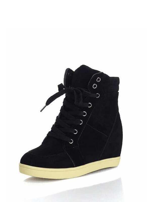 Cheap High Top Lace Up Wedge Sneakers for sale Australia