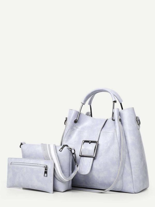 6a13c239ef Stitch Trim Grab Bag With 2pcs Clutch | SHEIN