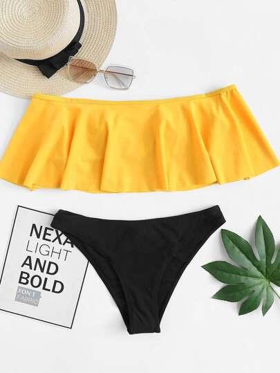 Ensemble de bikini épaules dénudées