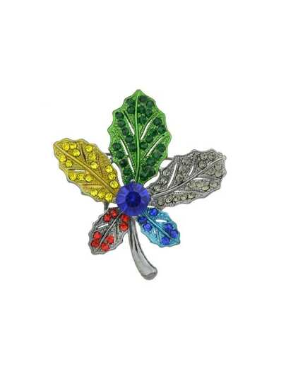 Colorful Maple Leaf Brooch