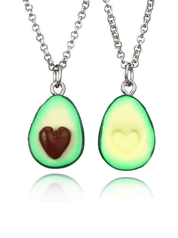 e12de32e5e Cheap Avocado Pendant Couple Chain Necklace Set 2pcs for sale Australia |  SHEIN