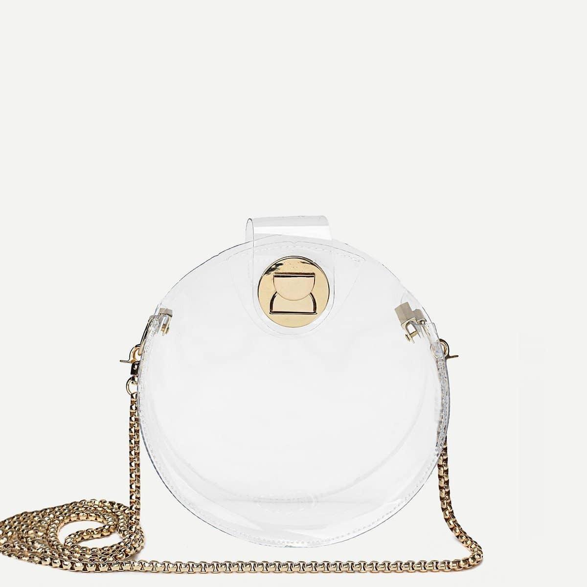 - Round PVC Crossbody Bag