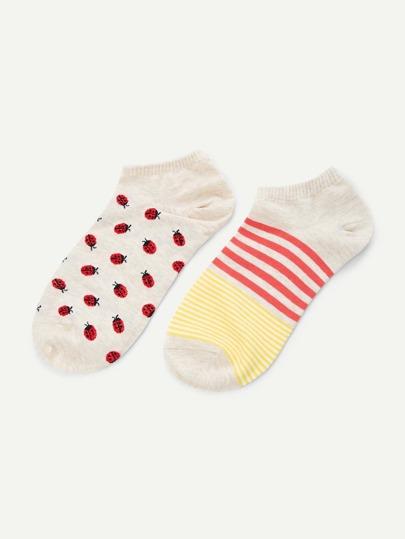 Chaussettes à rayures 2 paires