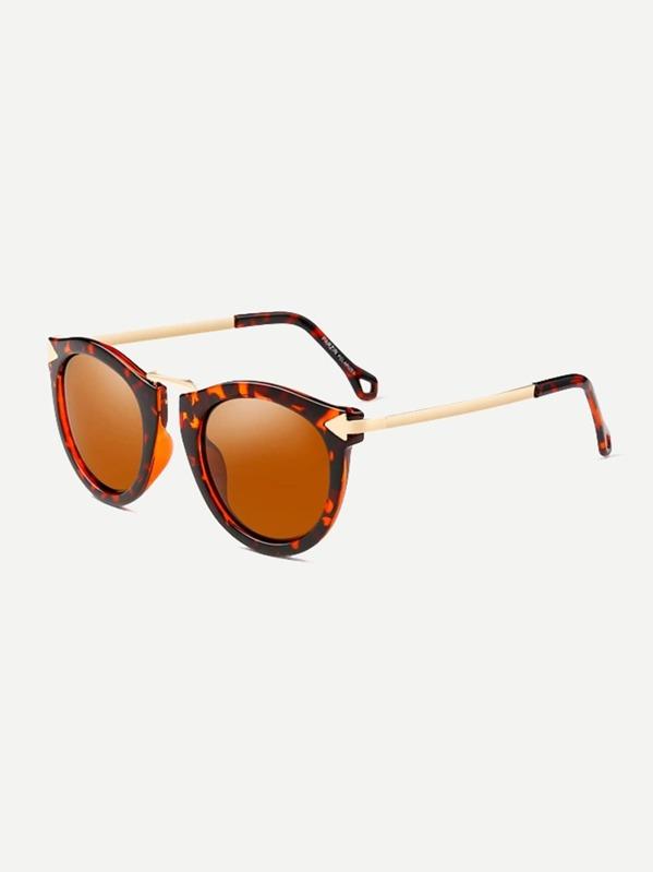 d037153b6c Gafas de sol de lentes de espejo de marco de dos colores | SHEIN ES