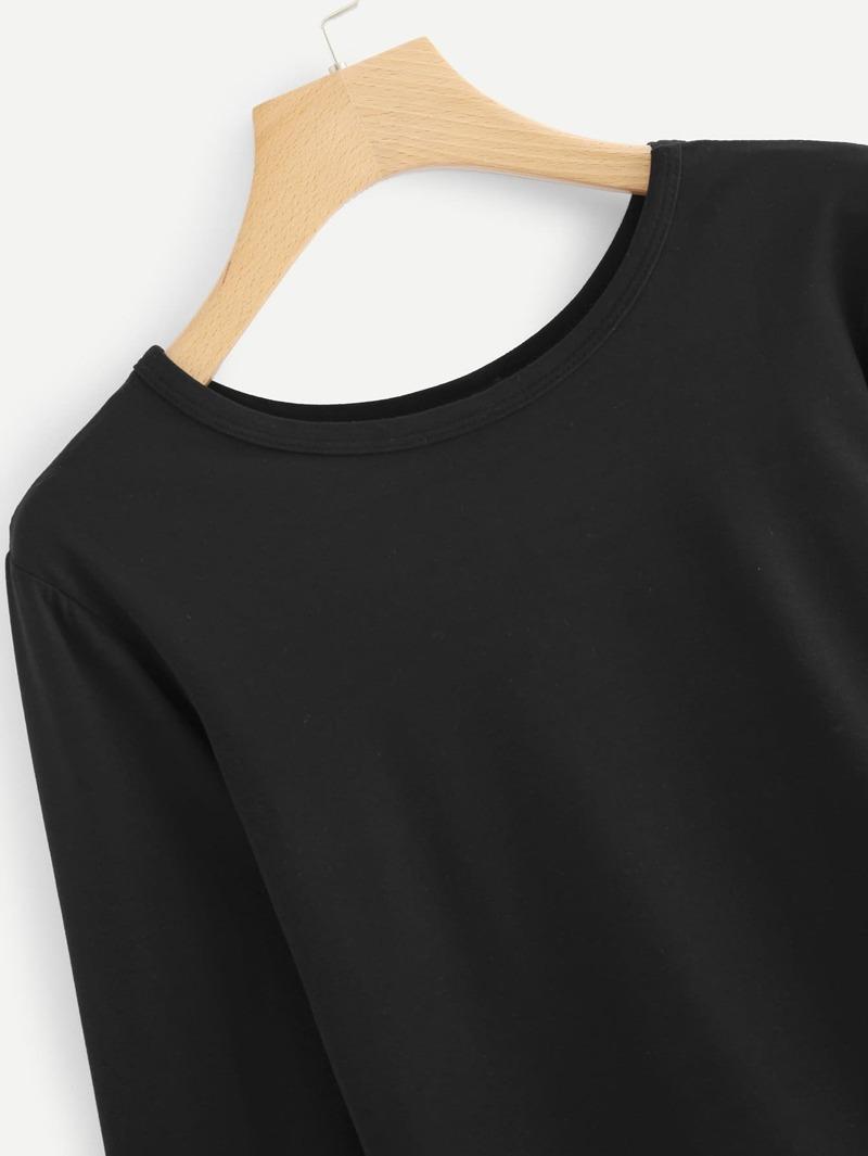 fe08282932979 Tee-shirt basique à manche longue