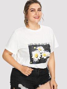 daisy print tee